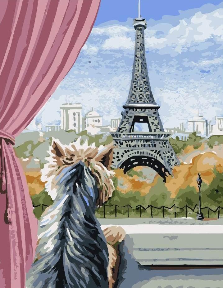 Картина по номерам Париж из окна | GX5611