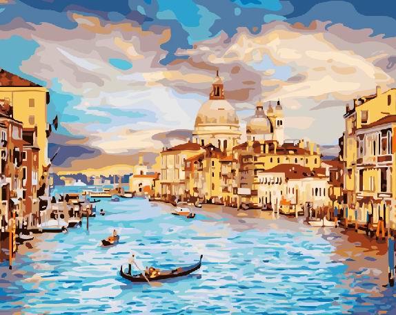 Картина по номерам Небесная венеция | GX22296