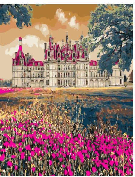 Картина по номерам Сказочный дворец | GX3287