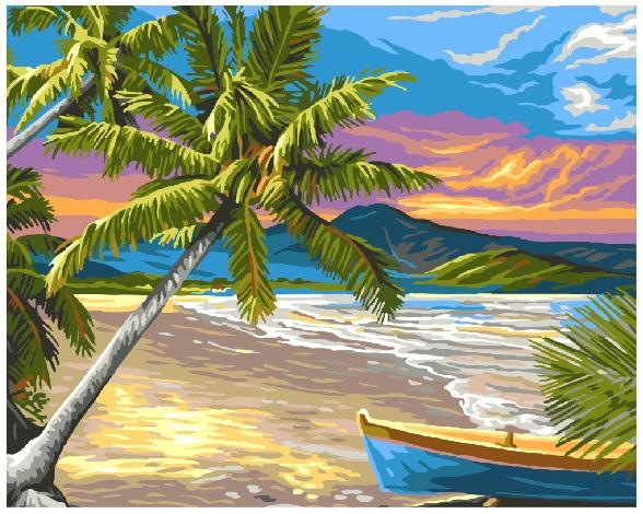 Картина за номерами Тропічний пляж | GX6696