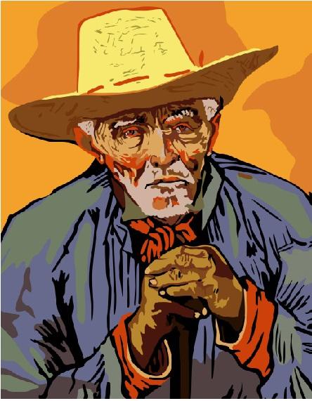 Портрет крестьянина Патьенса Эскалье. Ван Гог | monoart.com.ua