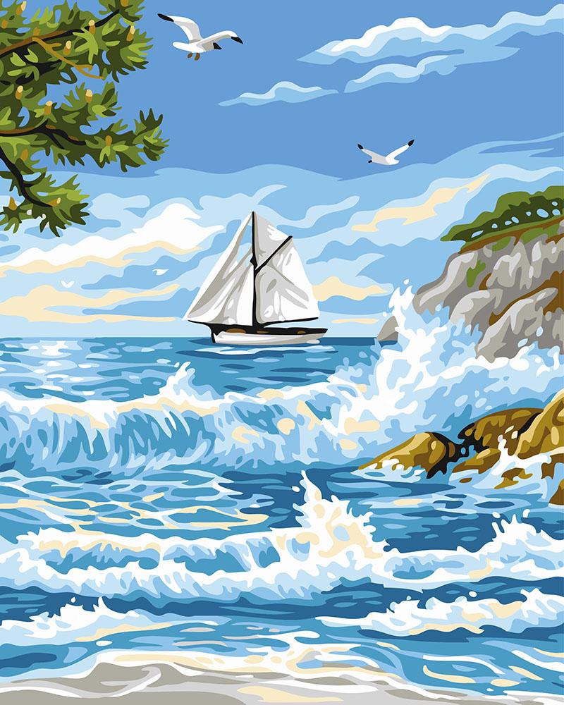 Картина за номерами Прибій поруч з островом | GX24116