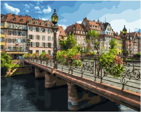 Картина по номерам Город Страсбург | GX25579