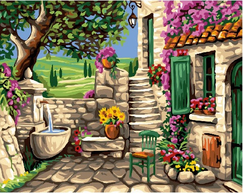 Картина по номерам Каменный дворик   GX24103