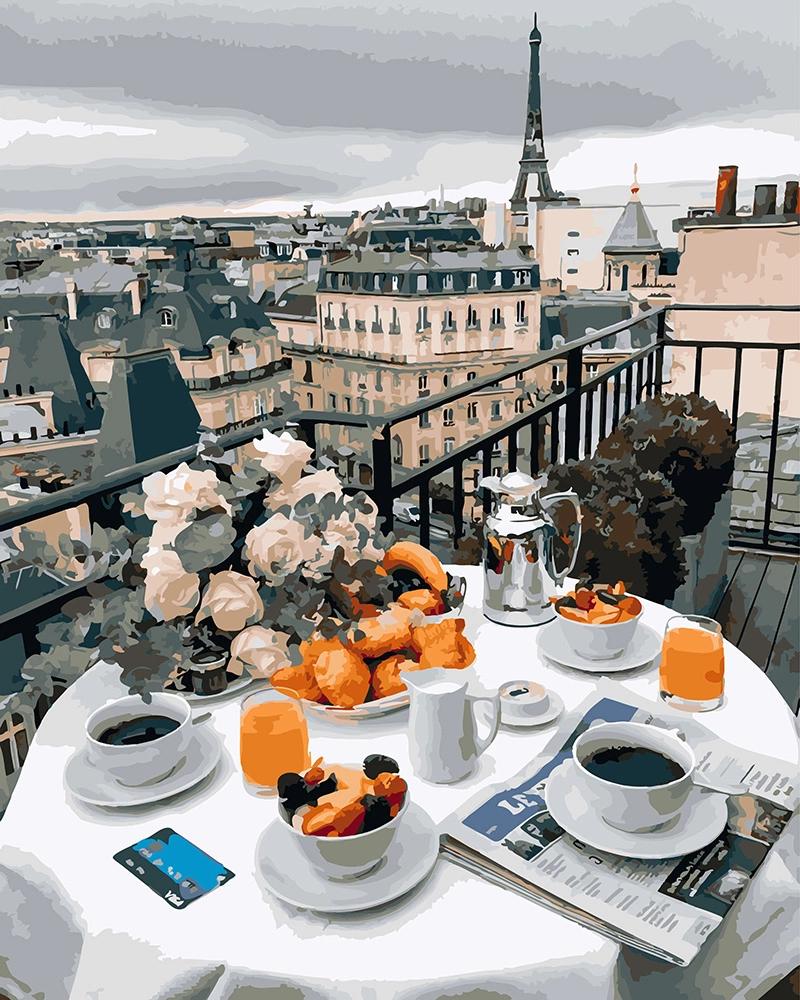 Картина за номерами Бізнес сніданок в Парижі   GX27963