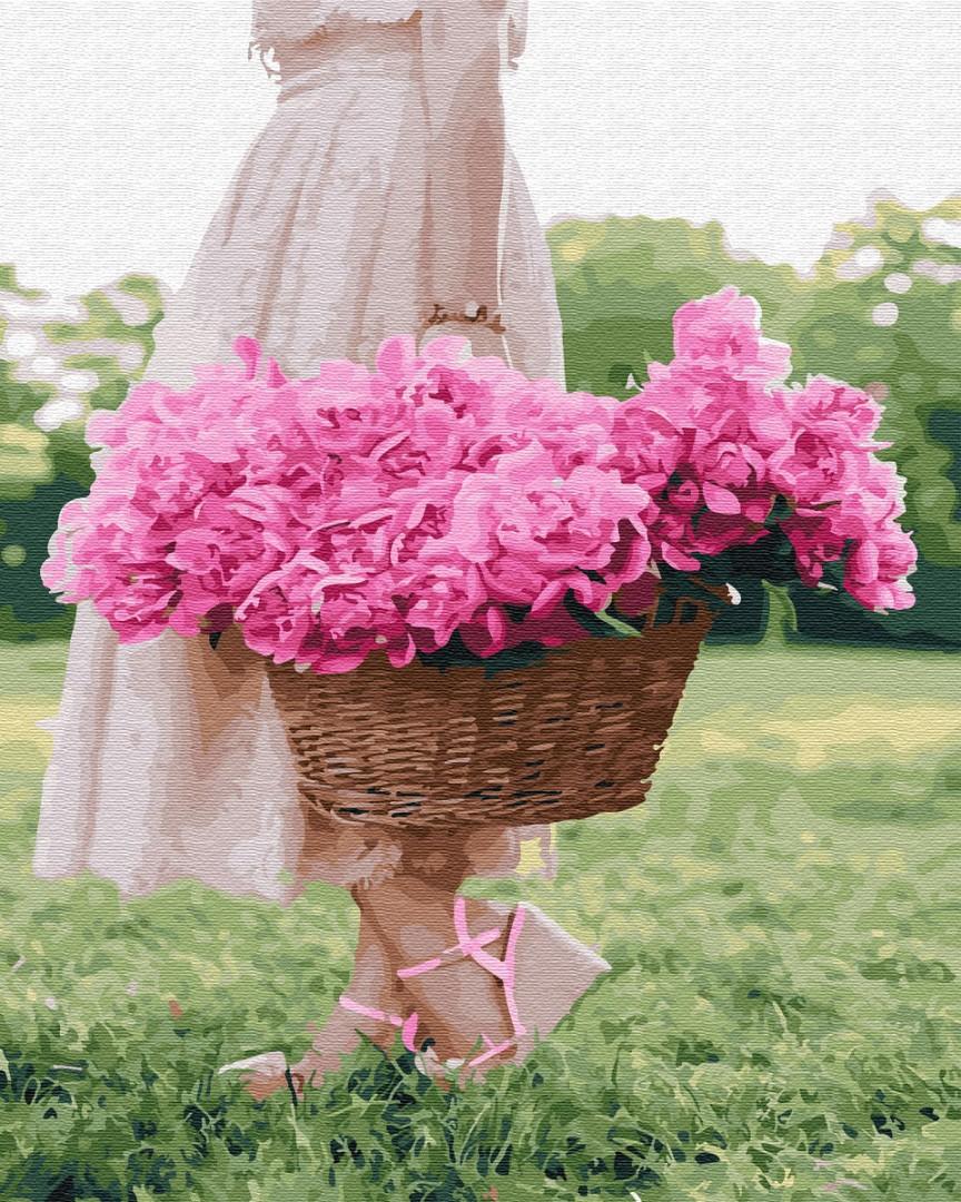 Картина по номерам Весна в корзине | GX34188