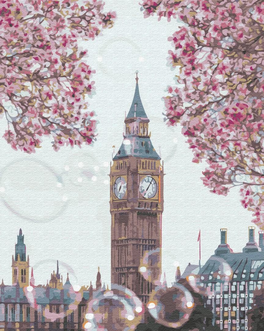 Картина по номерам Биг бен в цветах | GX34814