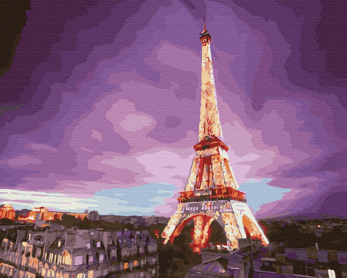 Картина по номерам Эйфелева башня на закате | GX28710