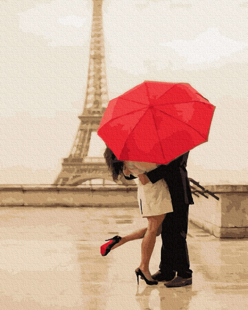 Картина по номерам Свидание под дождем | GX34597