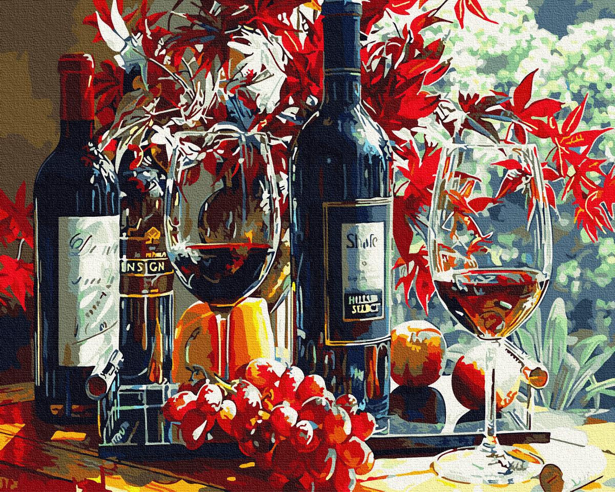 Картина за номерами Багряне вино | GX34090