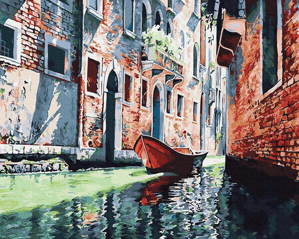 Картина за номерами Гондола на каналі Венеції | GX31590