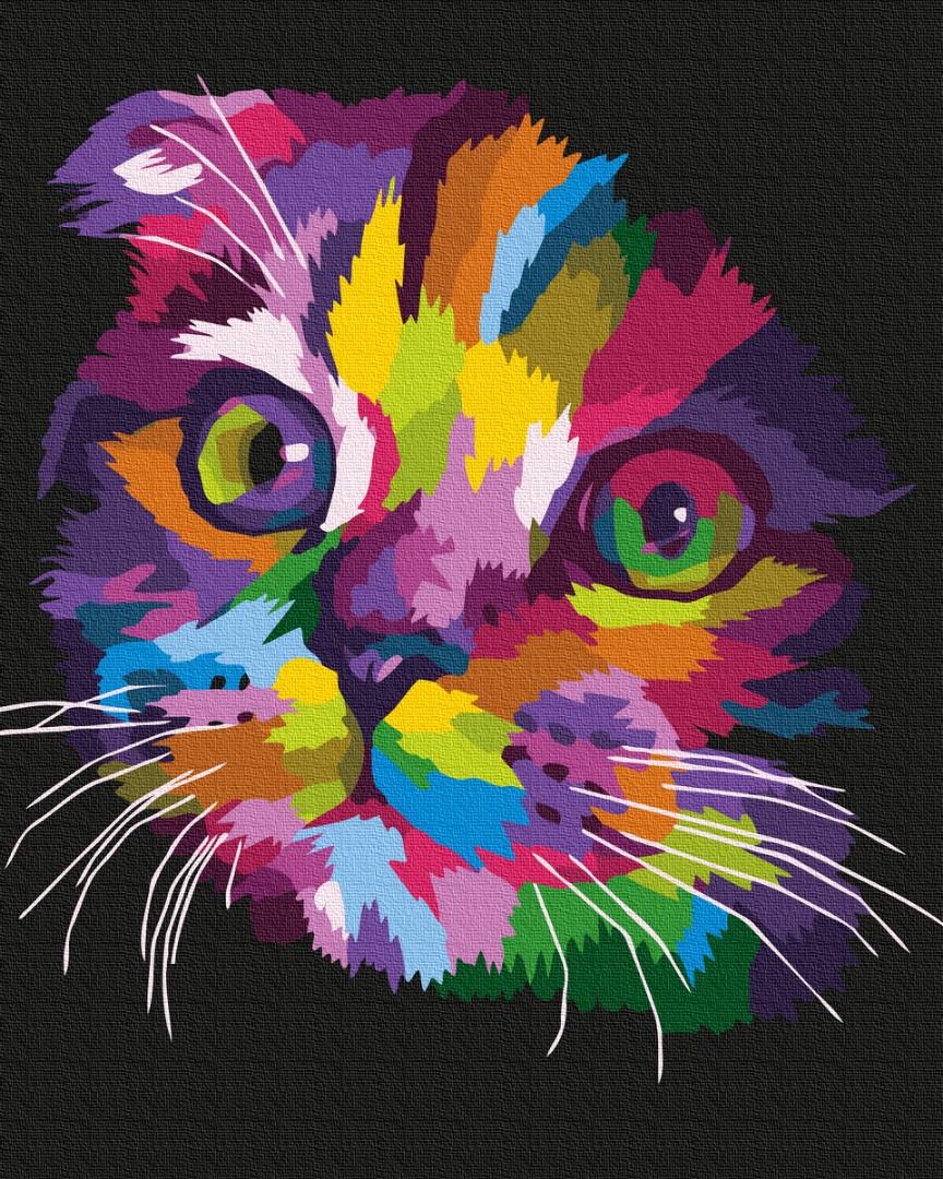 Картина за номерами Веселкове кошенятко | GX35799