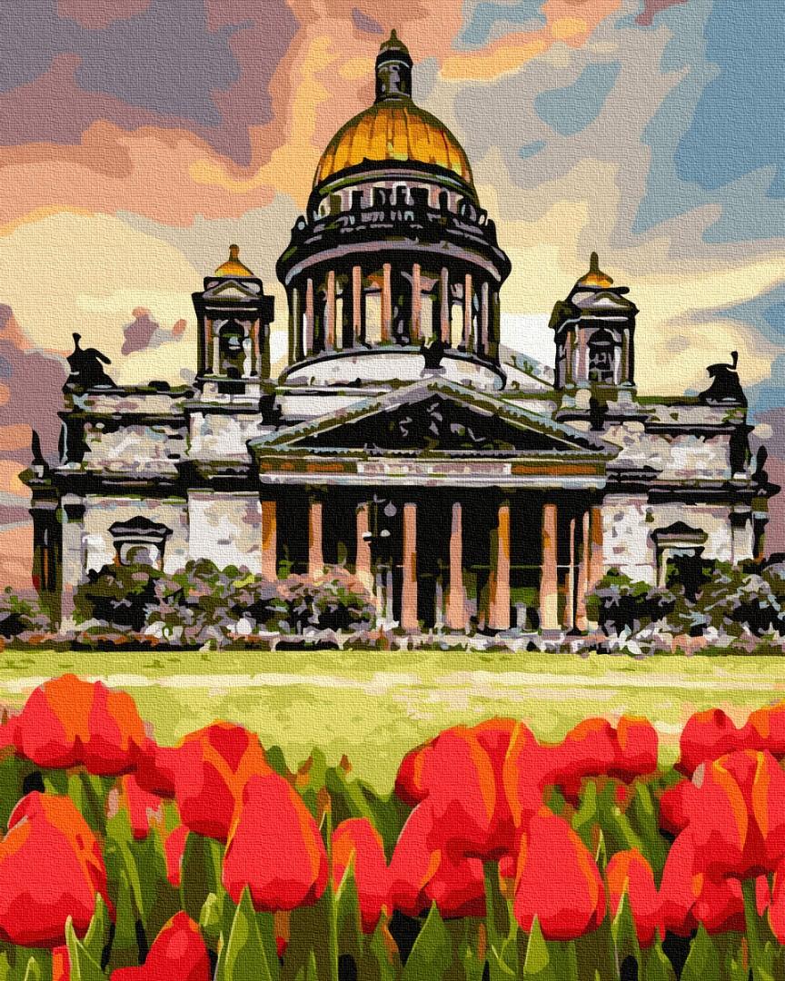 Картина за номерами Тюльпани біля Берлінського собору | GX36522