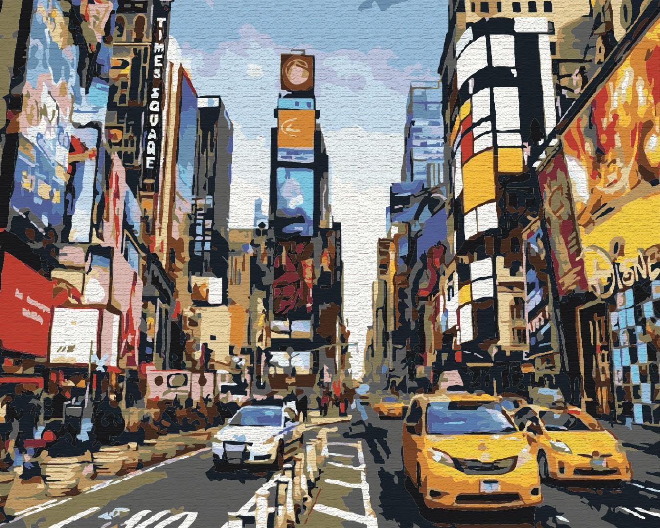 Картина за номерами Життя Таймс-сквер | BS5377