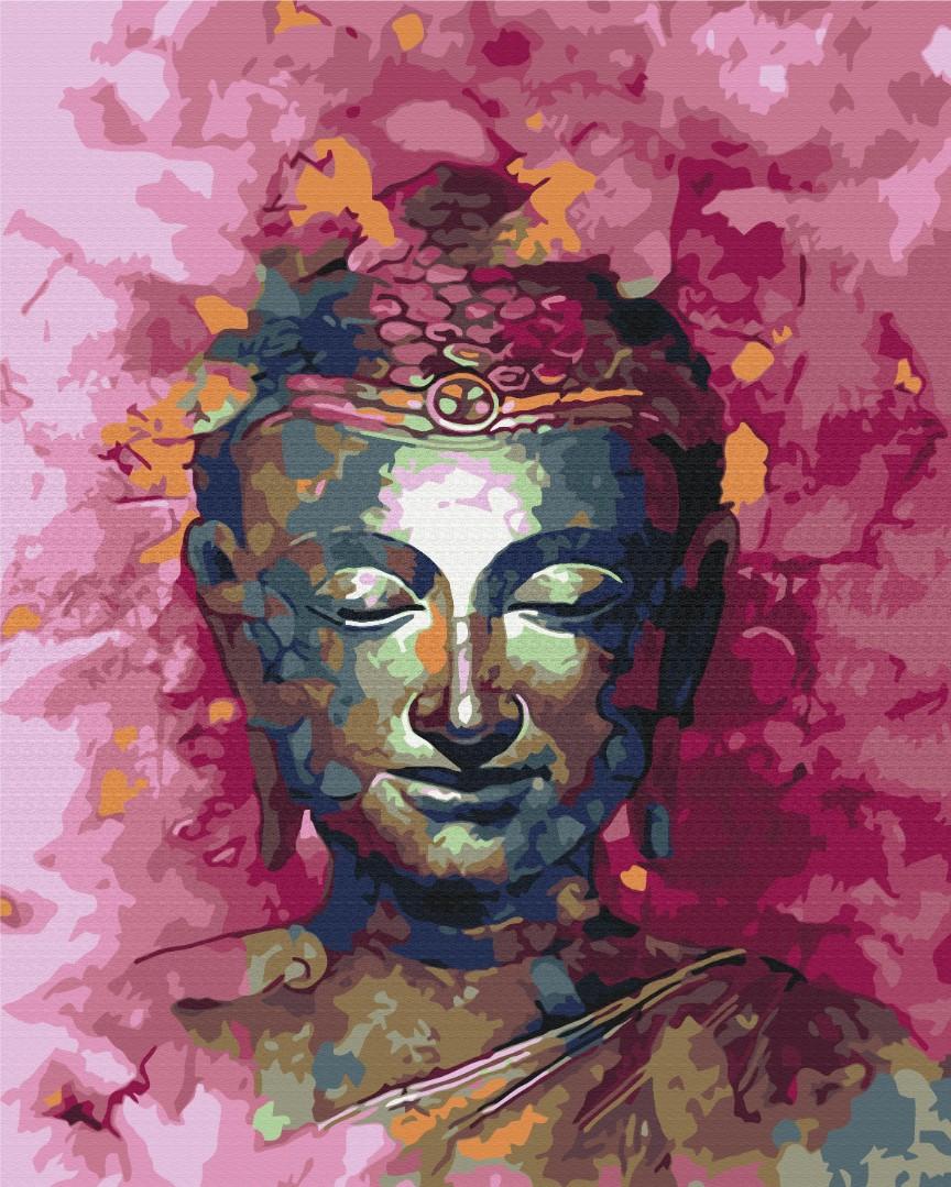 Картина за номерами Будда в рожевих відтінках | BS25274