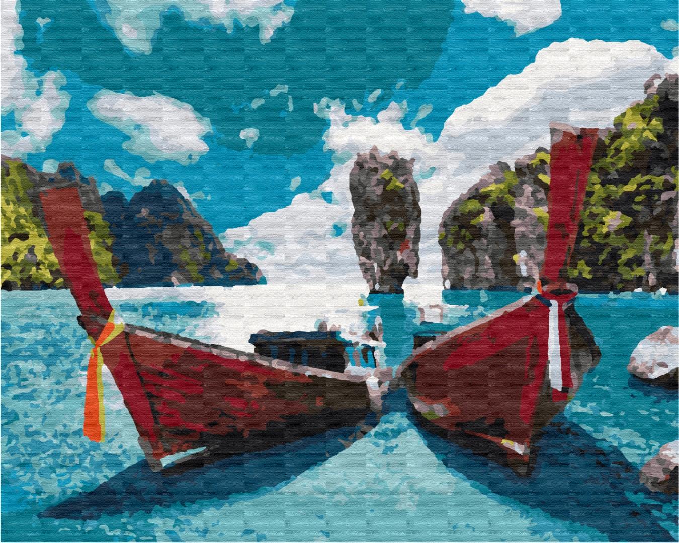 Картина за номерами Човни в лагуні   BS51390