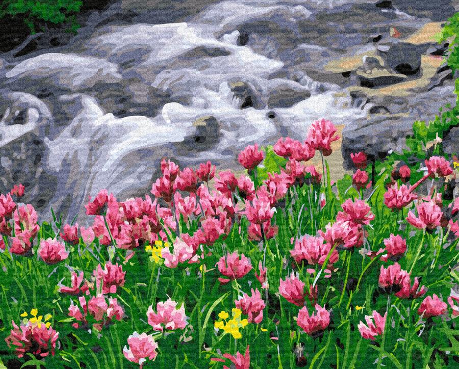 Картина за номерами Квітучий водоспад   GX38045