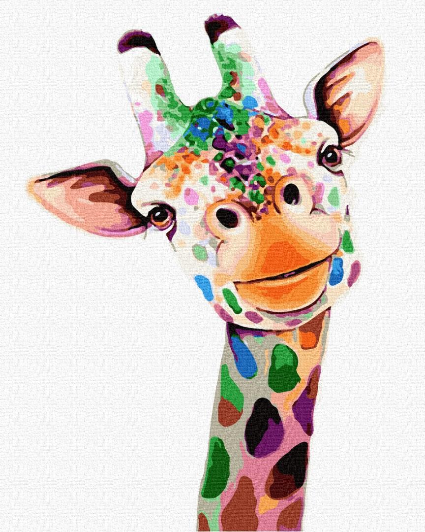 Картина по номерам Улыбающийся жираф | GX32225