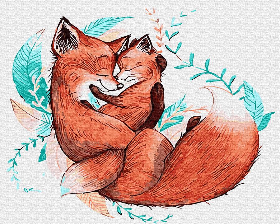Картина за номерами Обійми лисички | GX32040
