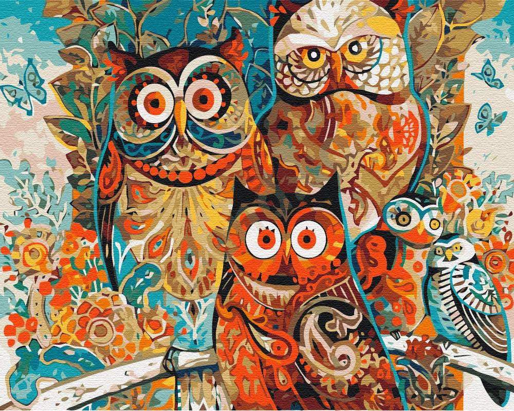Картина за номерами Чарівні сови | BS8849