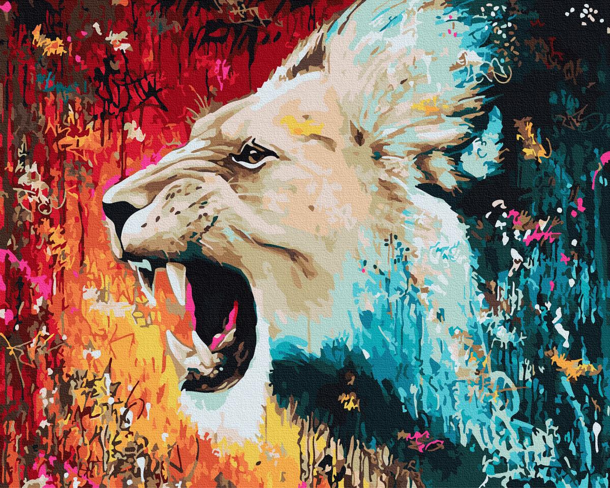 Картина за номерами Розлючений лев | GX30216