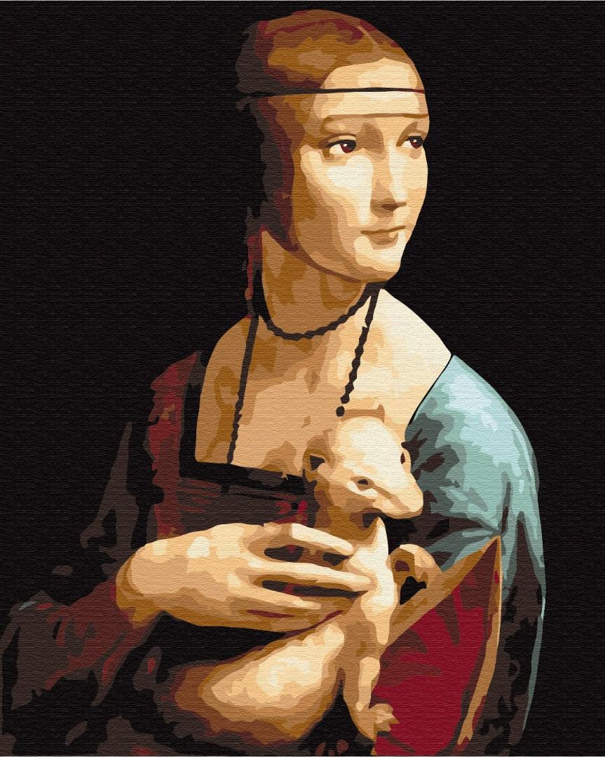 Картина за номерами Пані з горностаєм. Леонардо да Вінчі | BS29285