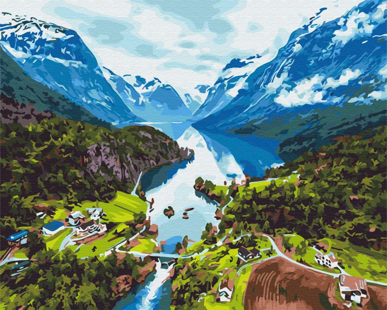 Картина за номерами Альпи | BS28730