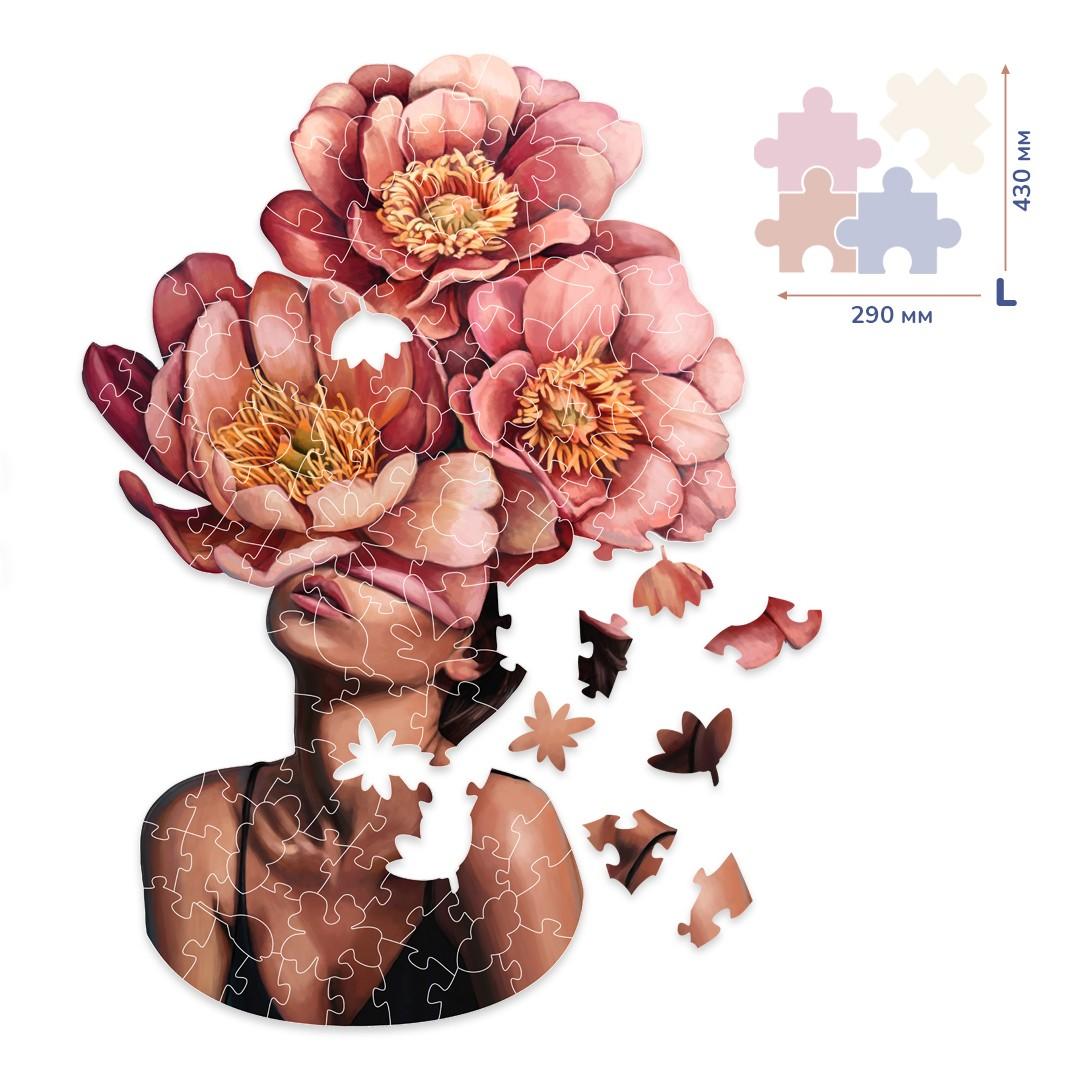 Картина за номерами Дівчина в квітучих півоніях (Розмір L) | BP08L