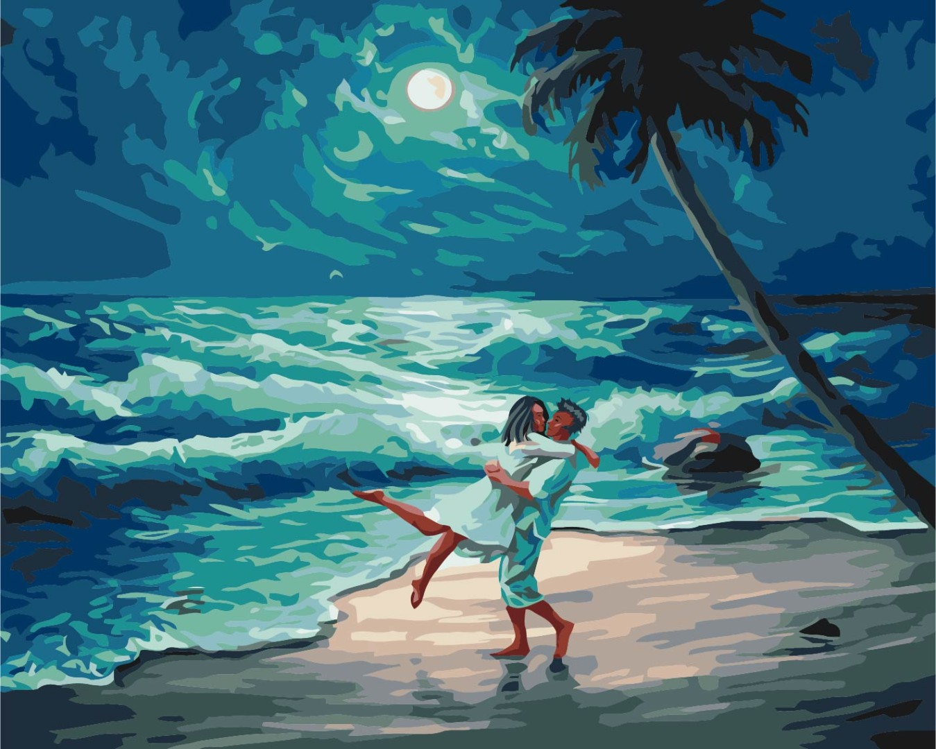 Картина за номерами На березі океану | BS23713