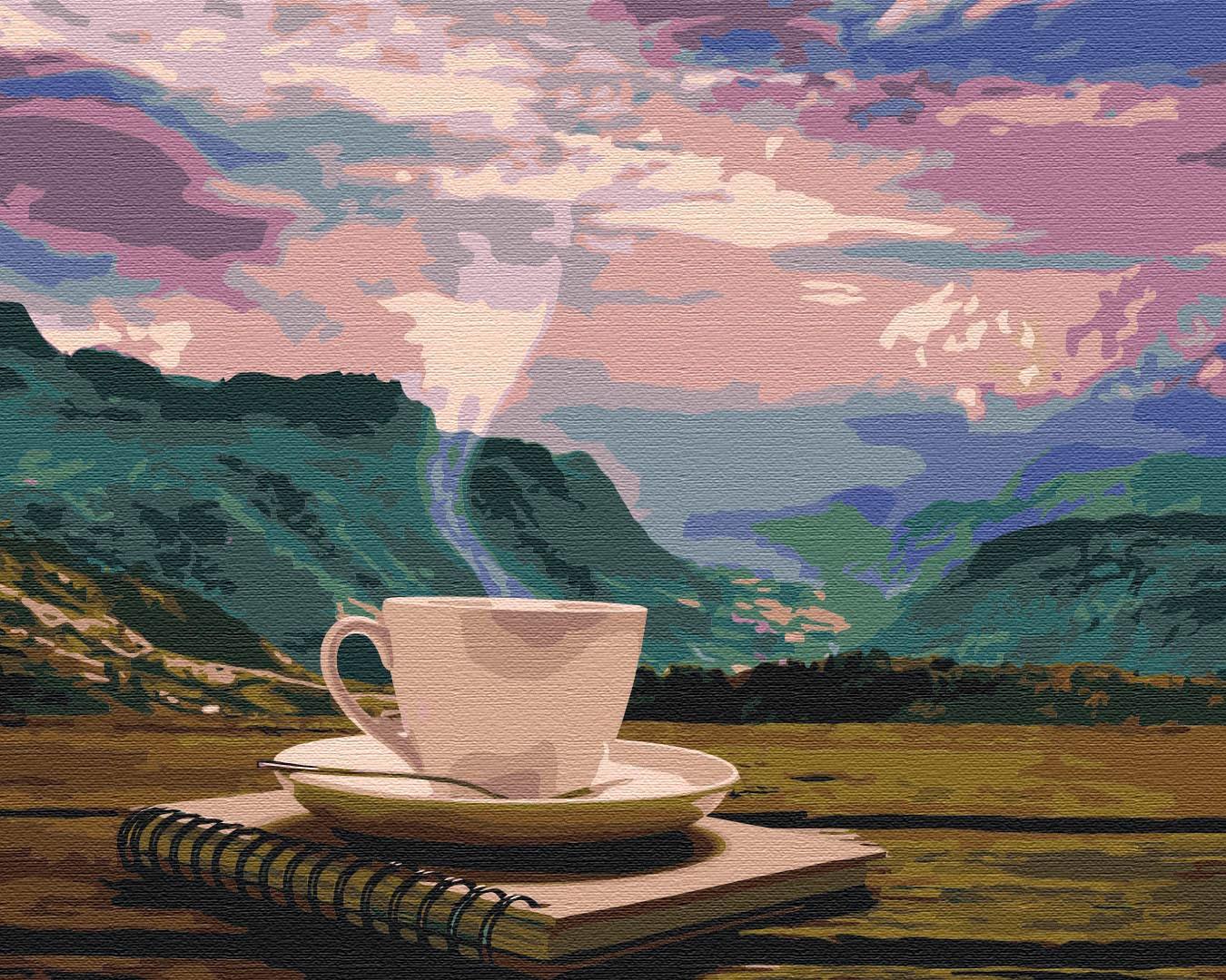Картина за номерами Ранок з видом на гори | BS24686
